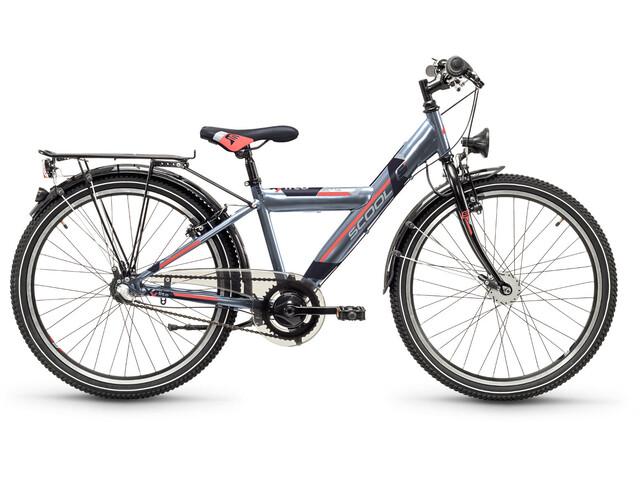 s'cool XYlite 24 3-S Barnesykkel steel Grå